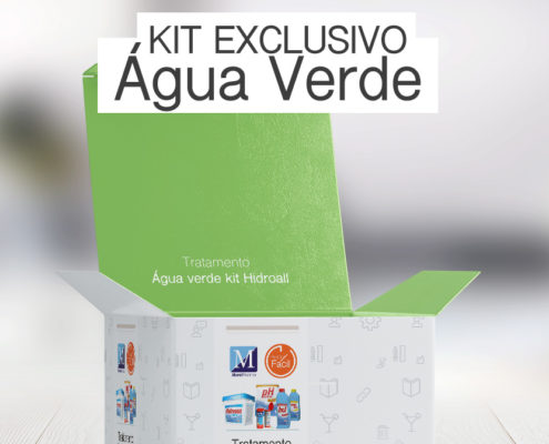 Tratamento piscina verde kit Hidroall