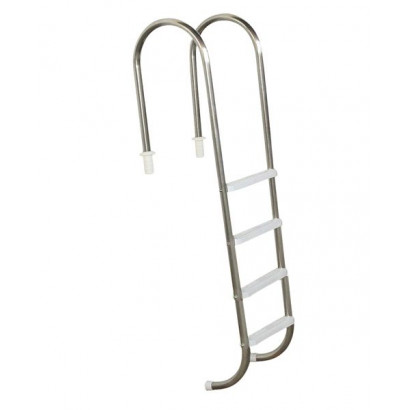 Escada para piscinas Tradicional - Sodramar - Marinheiro em Aço Inox 4 Degraus Anatômicos em ABS
