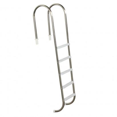 Escada para piscinas Tradicional - Sodramar - Marinheiro em Aço Inox 5 Degraus Anatômicos em ABS