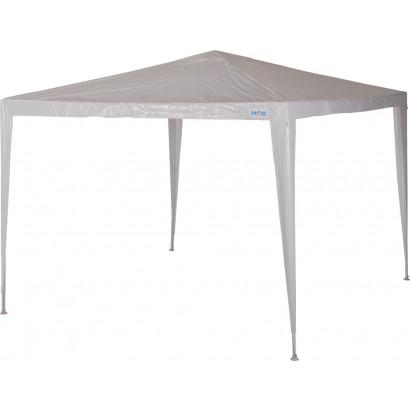 Gazebo - Mor - Ráfia Branco - 3m x 2,40m
