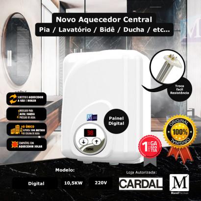 Aquecedor central Cardal Digital para banheiros 10,5kw 220v