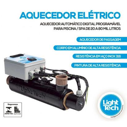 Aquecedor para piscinas Elétrico até 80 mil Litros Light tech