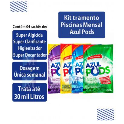 Kit Tratamento para Limpeza Piscina Linha Completa Azulpods