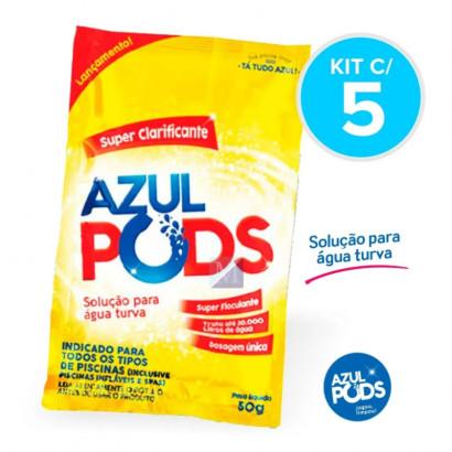 Super Clarificante para Piscinas Azul Pods - Kit com 5 - Maresias