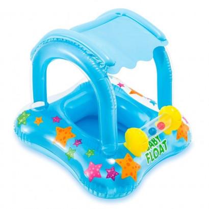 Boia Inflável Infantil Com Cobetura Baby Bote Kiddie Intex