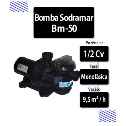 Bomba para piscinas 1/2 CV (BM-50) - Sodramar