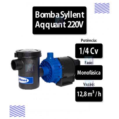 Bomba com pré-filto para Piscina 1/4CV - 220V Syllent