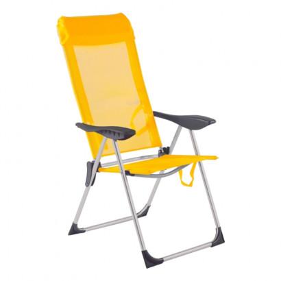 Cadeira Praia 5 posições Amarela Bel Fix
