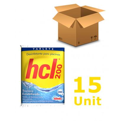 15 unidades Cloro Tablete - Hidroall - 200