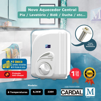 Aquecedor central para banheiro 8 Temperaturas 220v / 8,2kW Cardal