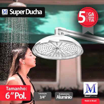 "Super Ducha para piscina Alumínio 06"" polegadas"