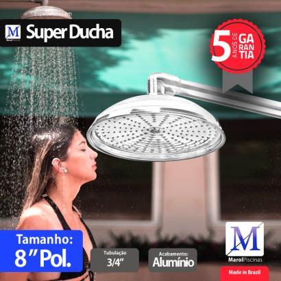"Super Ducha para piscina Alumínio 08"" polegadas"