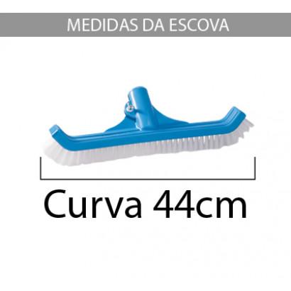 Escova para Piscinas Luxo Nylon 44 cm Sodramar