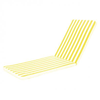 Almofada para Espreguiçadeira Listrada Amarelo/Branca