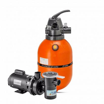Kit Filtro e bomba para piscinas - Nautilus - F350p e NBF1 - 1CV