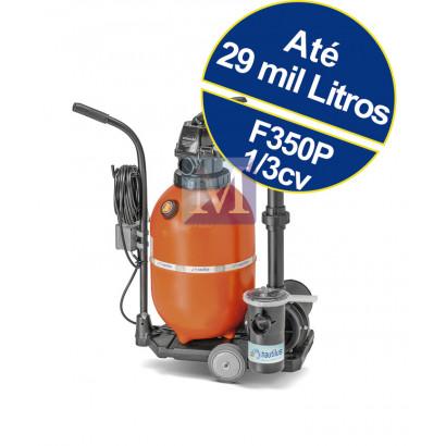 kit Filtro e bomba portátil c/ carrinho F350pc para piscinas até 29 mil litros Nautilus