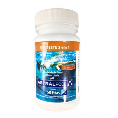 Fita Teste PH/ Alcalinidade/ Cloro Livre - 50 fitas - Astralpool