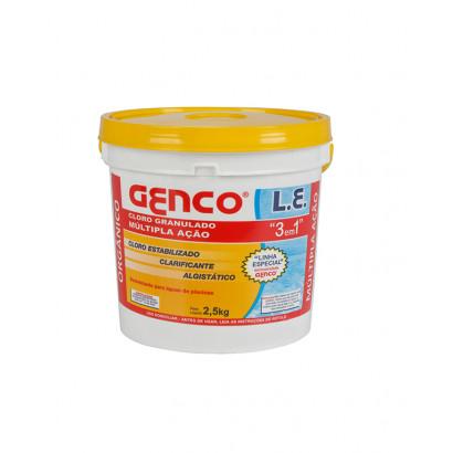 Cloro granulado Genco 3 em 1 | 2,5 Kg