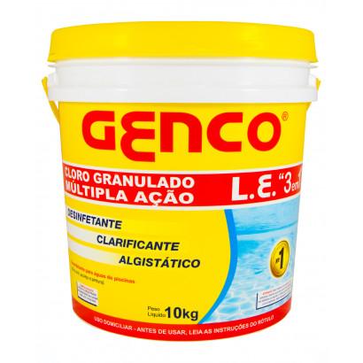 Cloro granulado L.E. 3 em 1- 10 kg - Genco