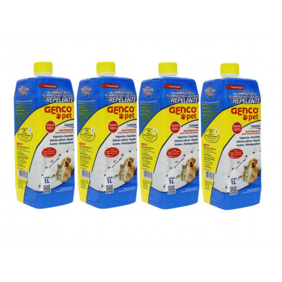 4 unidades - Eliminador de Odores com Repelente - Genco Pet - 1L