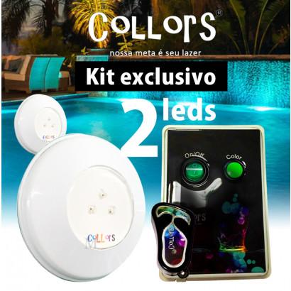 Kit Collors BLUE ABS 50  2led + 1 caixa de comando