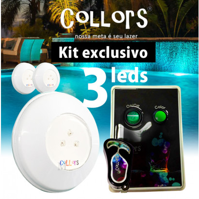 Kit Collors BLUE ABS 50  3led + 1 caixa de comando