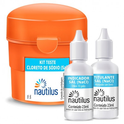 Kit Teste Cloreto de Sódio (Sal) - Nautilus