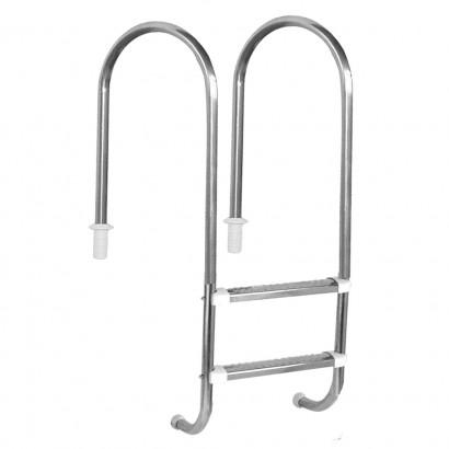 """Escada para piscinas Marinheiro 1 1/2"""" - 2 Degraus em Inox - Sodramar"""