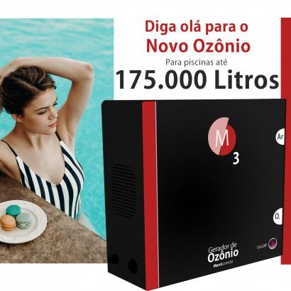 Ozônio para piscina até 175.000 litros O3M tratamento sem cloro
