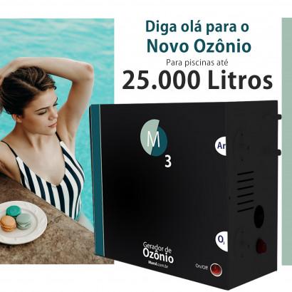 Ozônio para piscina até 25.000 litros O3M tratamento sem cloro