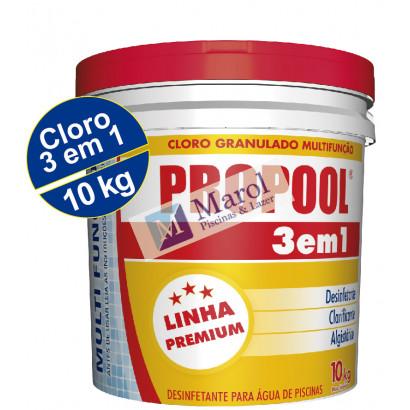 Cloro Granulado 3 em 1- balde 10kg - Propool