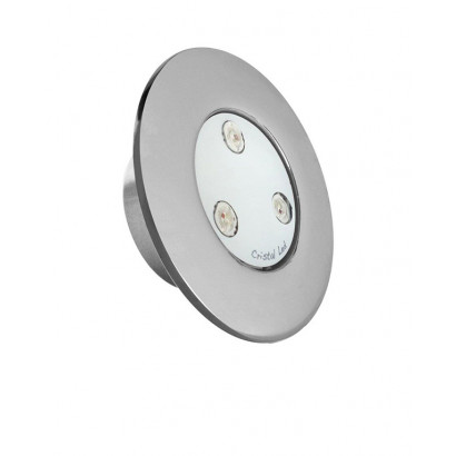 Refletor PowerLED - Cristal Led - Slim mini Inox 1,5""
