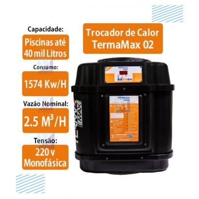 Trocador de Calor para piscinas até 40 mil Litros TermaMax 01 Nautilus