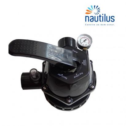 Válvula Bipartida rosqueada com manômetro F450x a F750x - Nautilus