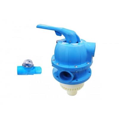 Válvula Multivias azul para Filtros Millenium Série Fm