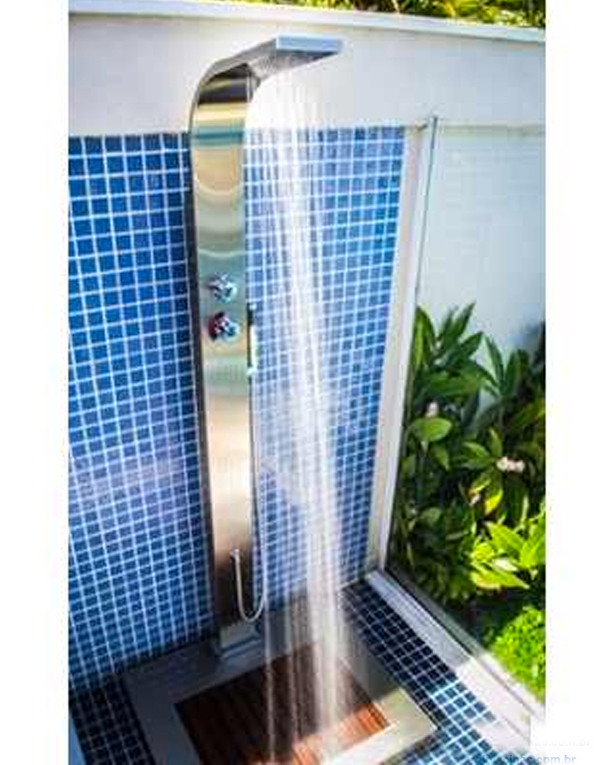 Duchas para piscina ducha sodramar advanced ao inox with - Duchas de piscinas ...