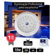 Led 10w RGB ABS 180mm Marol 01