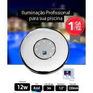 Led para piscina 12w Azul 230mm Marol Piscinas