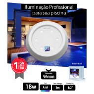 Led para piscina 18w Azul ABS 96mm Marol Piscinas 01