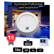 Led para piscina 18w RGB ABS 96mm Marol Piscinas 01