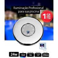 Led para piscina 24w Azul 230mm Marol Piscinas