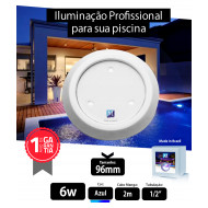Led para piscina 6w Azul ABS 96mm Marol Piscinas