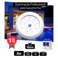 Led para piscina 8w Branco Frio ABS 96mm Marol Piscinas 01