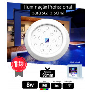 Led para piscina 8w RGB ABS 96mm Marol Piscinas 01