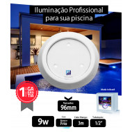Led para piscina 9w Branco Frio ABS 96mm Marol Piscinas