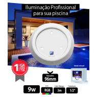 Led para piscina 9w RGB ABS 96mm Marol Piscinas