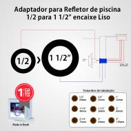 Adaptador para Refletor de piscina 1/2 para 1 1/2 Liso