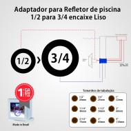 Adaptador para Refletor de piscina 1/2 para 3/4 Liso