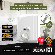 Aquecedor central para banheiro Cardal 8 Temperaturas 220v