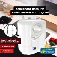 Aquecedor para pia Cardal Individual 4 Temperaturas - 6,4kW / 220V